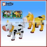Mini b o animal toy plastic cow with music