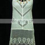 HQ-06 New arrival casual summer design sleeveless crochet cotton embroidered lace blouse