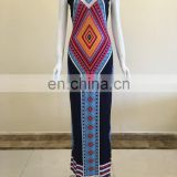 cheap stock high quality wholesale africa clothing tradition print pattern dashiki dress skirt women dress
