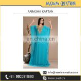 Stunning Design Blue Colour Farasha Kaftan Available at Wholesale Price