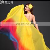 P-9044 2017 semi circular gradient color 2.5*1.3m belly dance imitated silk veil
