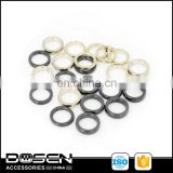 Generic Black Glod Metal Circles Non Welded Metal Looped Small Metal Ring for Clothing Heels Shoes Bags Bracelets