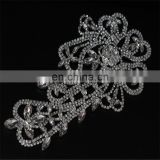 Yanjing wholesale unique design flower beaded rhinestone applique
