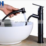 Pull down Black vintage Lavatory Basin Sink Faucet pull out basin mixer tap for Above Counter Basin