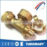 All kind of CW602N brass fitting 3 way female tee cross copper pipe fitting tube connector