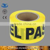 Low factory price non adhesive Hazard Warning Tape with word Prohibido el Paso OP013-14