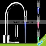 Color changing led water stream mixer faucet light