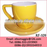 Glazed Promotional Daily Used Porcelain Cup and Saucer for Large Tea Cup and Saucer Sets