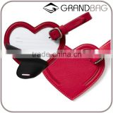 colorful genuine cowhide leather luggage parts baggage tags travel accessories for decoration