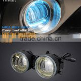 Tinsin cold blue and amber color 30w 3.5 inch 4 inch led drl turn signal light with led fog lamp