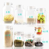 500ml colored glass jam jar with clips for honey,500ml glass honey jar,380ml glass honey jar