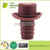 100% Food Grade Silicone Rubber Wine Bottle,Cap hat ,rubber cap