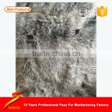 STABILE Best quality luxury CHARCOAL SILVER FROST FAUX fur throw