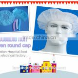 Disposable nurse round cap,head cap,shower cap