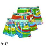 Lovely Design Animation Cartoon Minions Prining Kids Boxer