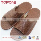 2014 Beach Nude Men Fashion Leather Open Toe Slipper