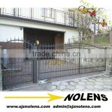 modern wrought iron gate metal gate design for factory house/Hot sales reservation style iron new design gatefor sale