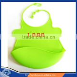 Cartoon silicone wholesale blank baby bibs