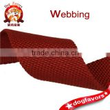 Apparel textile and accessories, 4.5cm red polyester cotton beads pattern webbing                                                                         Quality Choice