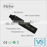 Latest Portable Dry Herb Vaporizer with temperature display, Hebe vapor ,titan2 herbal vaporizer for enjoying world cup