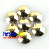 Black Korean Lead Free Hot Fix Metal Hlaf Round Pearl China