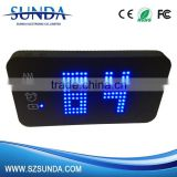 Fashion Design Multi Functional Led Light 4000mah Power Bank With Alarm Clock
