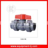 "Compact Union Ball Valves, 1/2"" to 2"" , PVC"