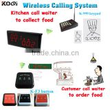 Kitchen Equipment Cheap Restaurant Pager Table Button Waiter Calling System K-236+K-999+K-F3 Top Popular