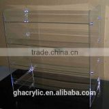 GH-RZ541 High-end High rigidity clear acrylic make up dispaly rack ,top grade acrylic display rack