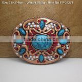 Cross belt buckle with Rhinestones zinc plate Sheet Stamping Steel adjustable Quick Connect Buckle