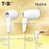 2014 product new in-ear earphones/earbuds for cell phone/laptop/Tablet PC MP3/MP4 Media Player in Dongguan free samples