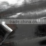 aluminium pe tarpaulin woven fabric plastic sheet cover with uv resistance and light reflective