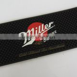 designated logo soft plastic PVC bar runner non slip bar rail mats