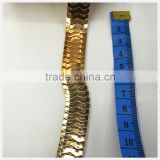 gold chain for waist chain,big chain for decoration,scale shaped chain
