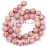 Wholesale 4/6/8/10 mm Rhodonite Beads Gemstones Jade                                                                         Quality Choice