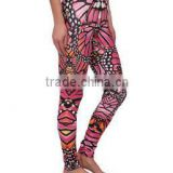 Woman Body Fitted Butterfly Colorful Hot Yoga Leggings/Tights Full Sublimated Custom design