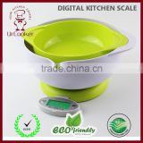 2015 Best Selling Model Digital multifunction kitchen and food scale electronic kitchen scale with BOWL
