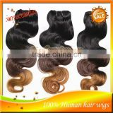 Body Wave AAAAA Unprocessed Hot Beauty Three Color Virgin Brazilian Ombre Hair Extension Free Shipping