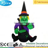 DJ-515 inflatable halloween green witch sitting outdoor terror decor airblown