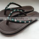 Fashion handmake ladies sandals PU leather slipper Women TPR sole material