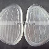 Transparent anti slip silicone ball of foot gel cushion ball of foot pad