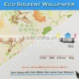 011 SINO Semi Glossy Glitter Non-Woven Base Eco Printed Solvent Sticker Wallpaper