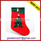 2015 new design wholesale funny bulk burlap dog christmas Stockings with good quatity