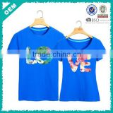 Lovely couple t-shirt , colourful printing love shirts , love tee shirts (lyt03000363)