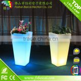 LED illuminate glowing flower pot LED lighted planter pots LED flower pot decorative vase light