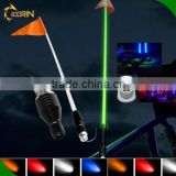 Guangzhou supplier 12v waterproof America flag safety led light 1.2m 1.5m 1.8m RGB remote chip antenna pole light