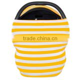 New Coming OEM Service Personalized Foldable Cuddle Soft Yellow Chevron Baby Carrier Cover