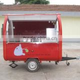 mobile food cart with frozen yogurt machine/hand push food cart for sale/food cart bike