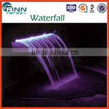 With LED light home swimming pool decoration indoor artificial waterfall fountain                                                                         Quality Choice