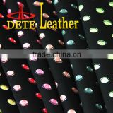 fashion eyes design raw material for shoes making PU nubuck leather
